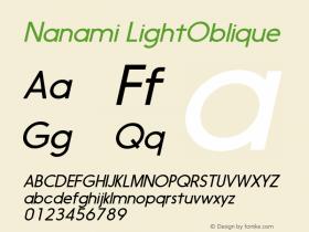 Nanami-LightOblique Version 1.000图片样张