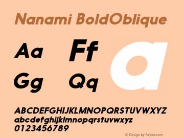 Nanami-BoldOblique Version 1.000图片样张