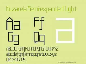 Muzarela-SemiexpandedLight Version 1.000图片样张