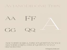 AvianoDidone-Thin Version 1.000图片样张