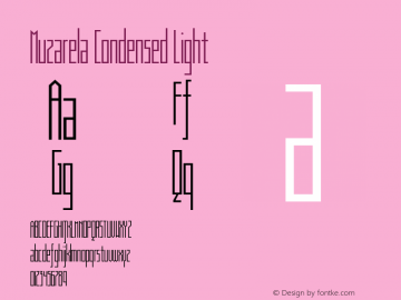Muzarela-CondensedLight Version 1.000图片样张