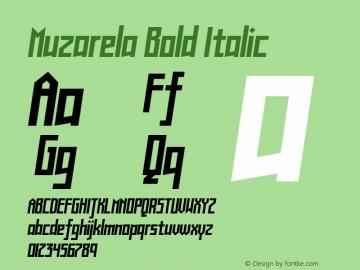 Muzarela-BoldItalic Version 1.000图片样张
