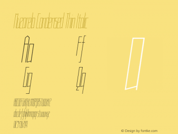 Muzarela-CondensedThinItalic Version 1.000图片样张