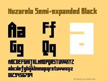 Muzarela-SemiexpandedBlack Version 1.000图片样张