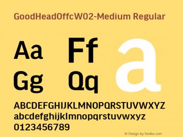 Good Head Offc W02 Medium Version 7.504图片样张