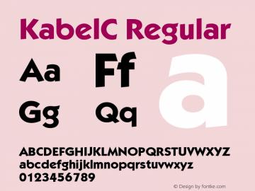 KabelC-Bold 001.000图片样张
