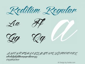 Reditum Version 1.000;com.myfonts.mawns.reditum.regular.wfkit2.46Pu图片样张