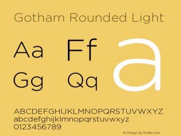 GothamRounded-Light Version 1.200图片样张