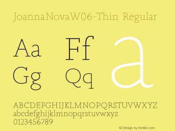 Joanna Nova W06 Thin Version 1.00图片样张