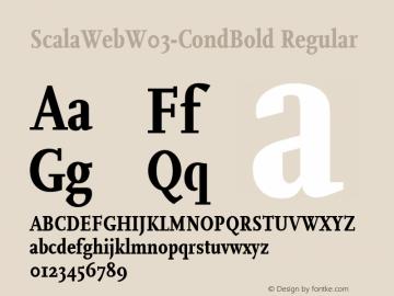 ScalaWeb W03 CondBold Version 7.504图片样张