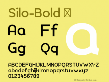 ☞Silo Bold Version 1.000;PS 001.000;hotconv 1.0.70;makeotf.lib2.5.58329;com.myfonts.typeunion.silo.bold.wfkit2.4bPr图片样张