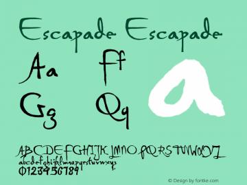 Escapade Version 1.000;PS 001.001;hotconv 1.0.56图片样张