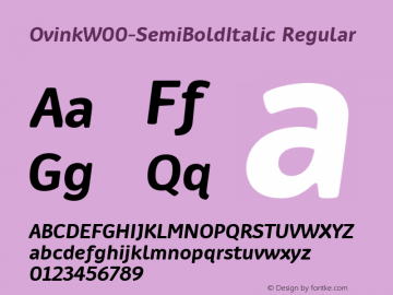 Ovink W00 SemiBold Italic Version 1.00图片样张
