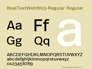 Real Text Web W03 Regular Version 7.504图片样张