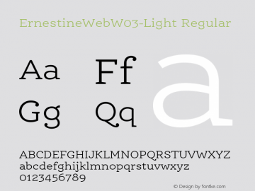 ErnestineWeb W03 Light Version 7.504图片样张