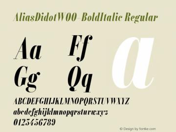 Alias Didot W00 Bold Italic Version 1.00图片样张