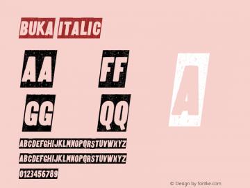 BUKA-Italic 1.000图片样张
