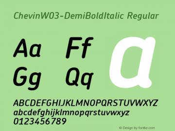 Chevin W03 DemiBold Italic Version 1.00图片样张