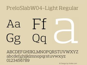 Prelo Slab W04 Light Version 1.00图片样张