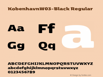 Kobenhavn W03 Black Version 1.00图片样张