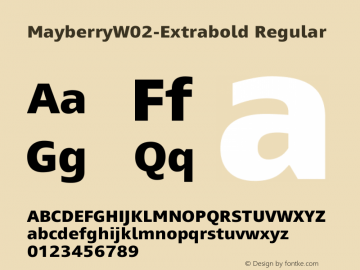 Mayberry W02 Extrabold Version 1.1图片样张