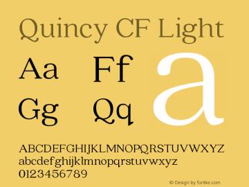 Quincy CF Light Version 2.005;PS 002.005;hotconv 1.0.70;makeotf.lib2.5.58329图片样张