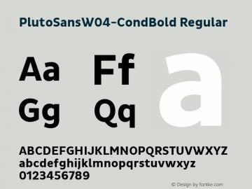 Pluto Sans W04 Cond Bold Version 1.00图片样张