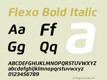 Flexo-BoldIt Version 1.06          UltraPrecision Font图片样张