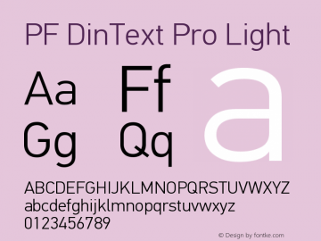 PFDinTextPro-Light Version 2.005 2005图片样张
