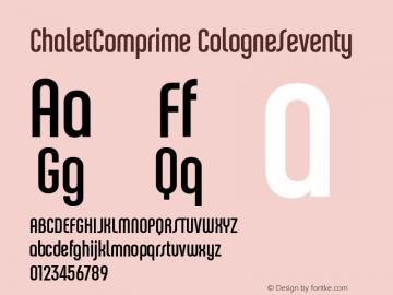 ChaletComprime-CologneSeventy OTF 1.000;PS 001.000;Core 1.0.29图片样张