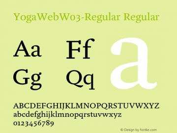 YogaWeb W03 Regular Version 7.504图片样张