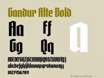 Gandur Alte Bold 1.010图片样张