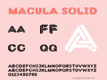 Macula Solid Version 1.000;PS 001.000;hotconv 1.0.70;makeotf.lib2.5.58329图片样张