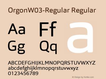 Orgon W03 Regular Version 1.00图片样张