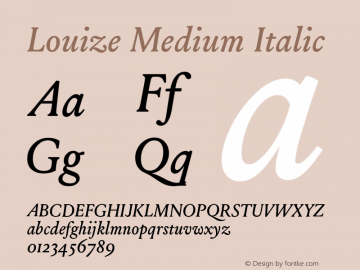 Louize-MediumItalic Version 1.000图片样张