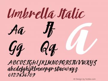 Umbrella-Italic 001.000图片样张