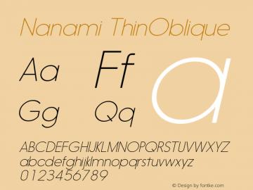 Nanami-ThinOblique Version 1.000图片样张