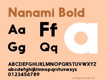 Nanami-Bold Version 1.000图片样张