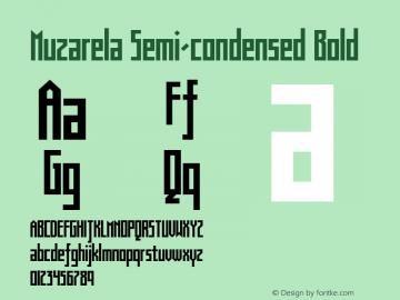 Muzarela-SemicondensedBold Version 1.000图片样张