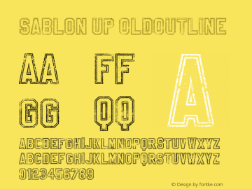 SablonUp-OutlineAlt Version 001.001图片样张
