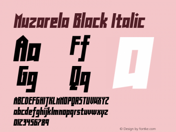 Muzarela-BlackItalic Version 1.000图片样张
