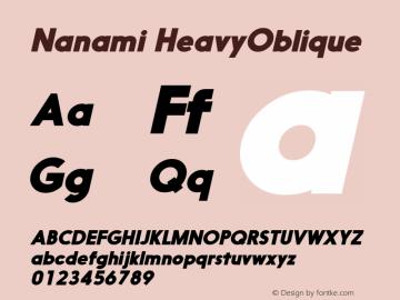 Nanami-HeavyOblique Version 1.000图片样张