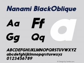 Nanami-BlackOblique Version 1.000图片样张