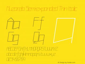 Muzarela-SemiexpandedThinItalic Version 1.000图片样张