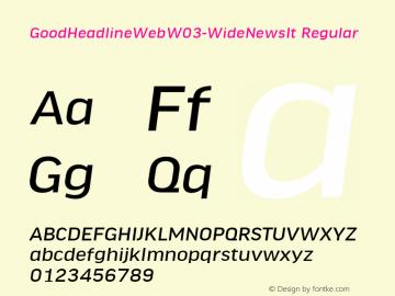GoodHeadlineWeb W03 WideNewsIt Version 7.504图片样张