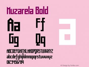 Muzarela-Bold Version 1.000图片样张