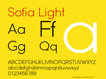 Sofia-Light Version 1.000 2008 initial release图片样张