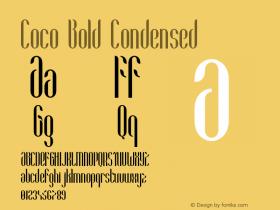 Coco-BoldCondensed Version 1.000;PS 001.001;hotconv 1.0.56图片样张
