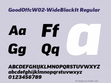 Good Offc W02 Wide Black Italic Version 7.504图片样张