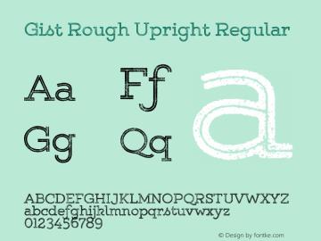 Gist Rough Upr Reg Version 1.000图片样张